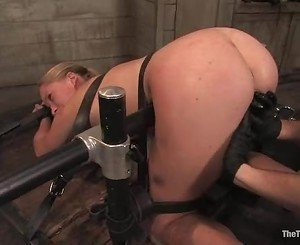 Horny young slut Da Zerva gets bound to the table and fucked...