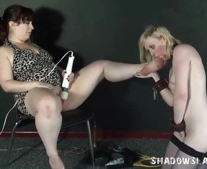 Lesbian feet licking and foot domination of lezdom