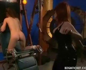 Dominant Bitch Smacks Her Slave's Nude Booty