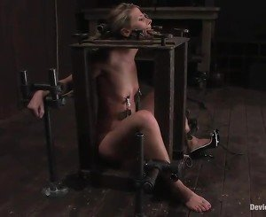 Ariel Has Restrained In A Sadism Machine And Humiliated