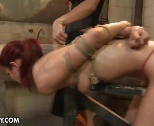 Emaciated Black Haired Gal Lucy Is Our Brand New Sex Serf And...