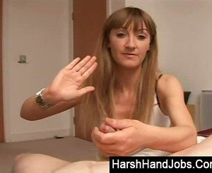 Harsh handjob from my girlfriend