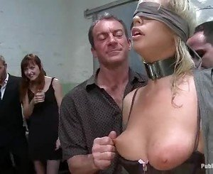trussed and masked Tara Lynn gets her cunt vibed and titties...