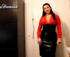 Kinkydomina in Leather Skirt - Sph, Free Porn f5: