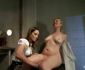 Adrianna Nicole And Amber Rayne Play Sex Game Fucking Game Lesbie Pain Satisfaction  In A Basement