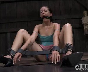 Constrained Up Gal Waits Lustily