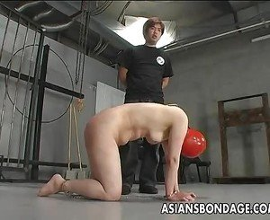 Japanese chick is spanked before sucking a hard dick
