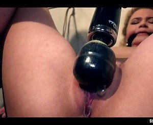 Angel Diamonds bound cleavegagged vibed machine-fucked