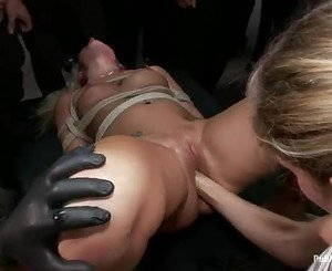 Amazing Katie Summers gets a fist stuffed up her slit
