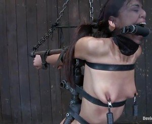 Lyla Storm Has Chained And Appreciates Smut Bush Fingering