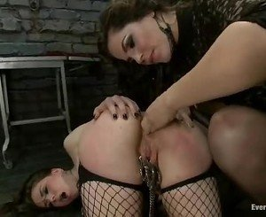 Alluring Bobbi Starr torments this babes butt hole