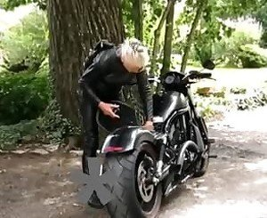Hot Leather Granny Biker, Free BDSM Porn Video 97: