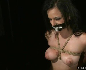 Sex slave being punished and fucked hard