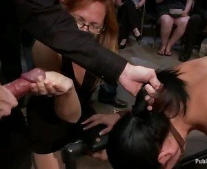 Blistering Princess Donna watches this slut get fucked