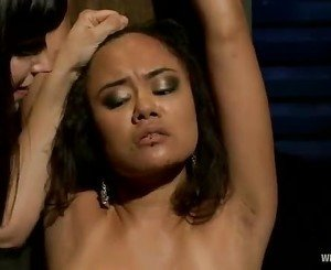 Annie Cruz is tied up and tormented by Bobbi Starr