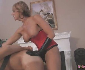 Bound and fucked by dildo