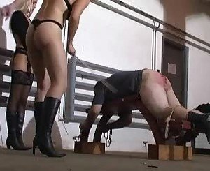 Caning by 2 Hot Mistresses, Free BDSM Porn df: