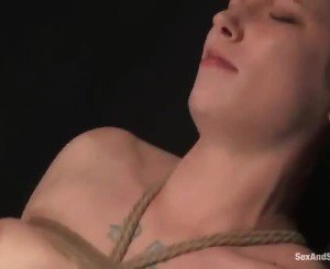 Nice Ginger Has Belted And Gagged Close To A Toy In Her Pussy