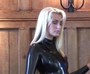 Natasha Black Latex Sleeved Catsuit, Free Porn 6b:
