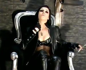 Domme - Leather Heels Smoking, Free BDSM Porn 63: