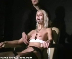 Blonde Constrained Female Wynter Tortured And Humiliated By Her Sadistic Master Using Cumload Punishments And Pain
