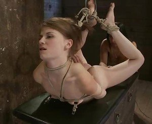 Sensi Pearl gets punished by Isis Love & hogtied