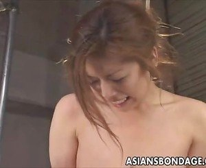 Japanese babe gets a fishing Hook in pussy