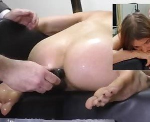 Miss April's Kneeling Enema Injection, Porn 86: