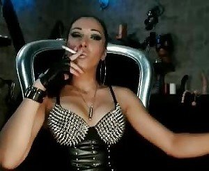 Smoking Brunette in Leather, Free BDSM Porn 31: