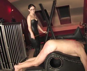 Caned by Hot Strict Mistress, Free BDSM Porn 40: