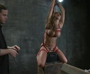 Hottie Felony gets suspended above a sybian