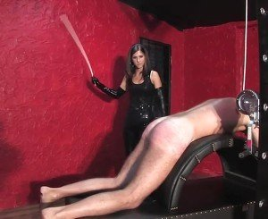 Young Brunette Mistress Caning, Free BDSM Porn 34: