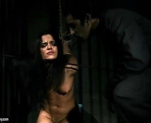 Brunette getting punished pretty hard