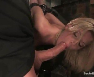 White Haired Angel Has Hogtied And Shaged Doggy Style!