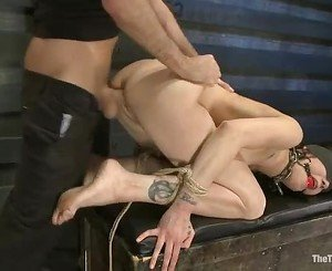 Tattoo Asphyxia gets her moist pussy pulverized