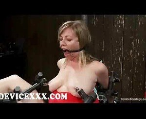 Bound adrianna nicole gets flogged and pussy toyed