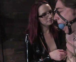 Kinkiest Lady Domination FFM 3some Surrounding Pegging And Constrained