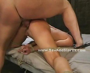 Brunette slutty ends up sucking cock