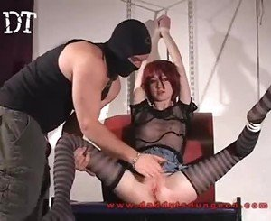 Petite white spinner gets more than she bargeined for